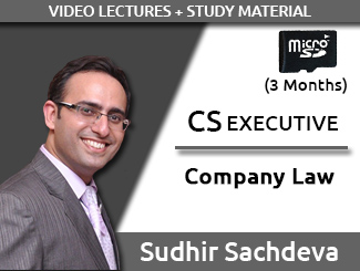 CS EXECUTIVE Company Law Video Lectures by Sudhir Sachdeva (SD Card, 3 Months)
