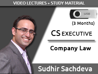 CS EXECUTIVE Company Law Video Lectures by Sudhir Sachdeva (USB, 3 Months)