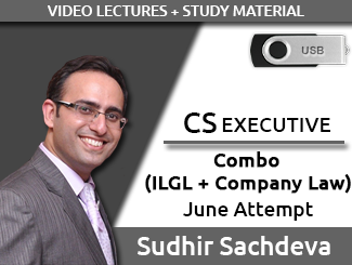 CS Executive Combo (ILGL + Company Law) Video Lectures by Sudhir Sachdeva June Attempt (USB)