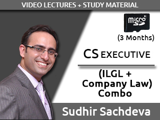 CS Executive Combo (ILGL + Company Law) Video Lectures by Sudhir Sachdeva (SD Card, 3 Months)