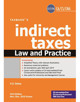 Indirect Taxes Law and Practice By VS Datey (43rd Edition)