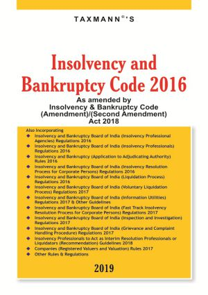Insolvency and Bankruptcy Code 2016 Book By Taxmann