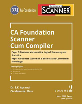 Scanner - CA Foundation Scanner Cum Compiler (Volume 2) Book by Manmeet Kaur, S.K. Agrawal