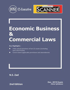 Scanner - Economic Business & Commercial Laws Book for CS Executive (New Syllabus) by N S Zad