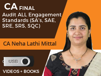 CA Final Audit ALL Engagement Standards (SAs, SAE, SRE, SRS, SQC) Video Lectures by CA Neha Lathi Mittal (USB)
