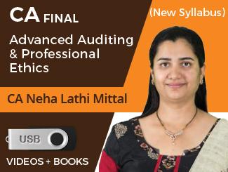 CA Final New Syllabus Advanced Auditing & Professional Ethics by CA Neha Lathi Mittal (USB)