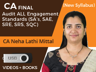 CA Final New Syllabus Audit ALL Engagement Standards (SAs, SAE, SRE, SRS, SQC) Video Lectures by CA Neha Lathi Mittal (USB)