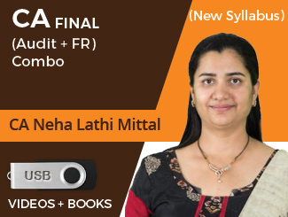 CA Final New Syllabus (Audit + FR) Combo Video Lectures by CA Neha Lathi Mittal (USB)