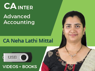 CA Inter Advanced Accounting Video Lectures by CA Neha Lathi Mittal (USB)