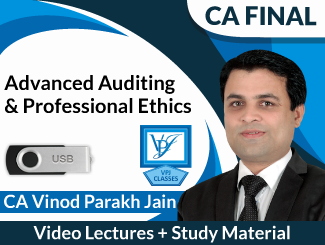 CA Final Advanced Auditing & Professional Ethics Video Lectures by CA Vinod Parakh Jain (USB)