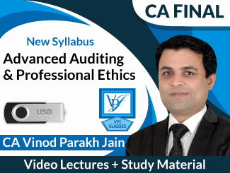 CA Final New Syllabus Advanced Auditing & Professional Ethics Video Lectures by CA Vinod Parakh Jain (USB)