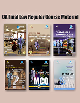 CA Final New Syllabus Corporate & Economic Laws Complete Books Set by CA Darshan Khare