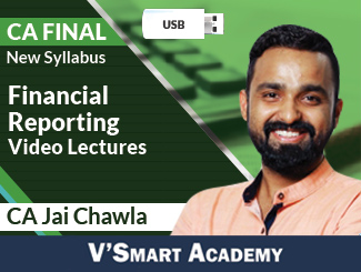 CA Final New Syllabus Financial Reporting Video Lectures by CA Jai Chawla (USB)