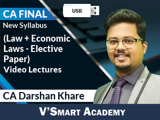 CA Final New Syllabus (Law + Economic Laws - Elective Paper) Combo Video Lectures by CA Darshan Khare (USB)
