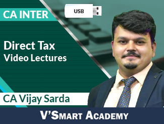CA Inter Direct Tax Regular Video Lectures by CA Vijay Sarda (USB)