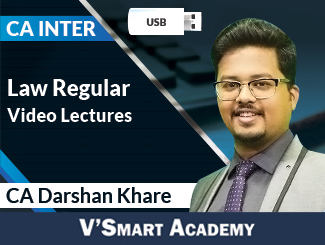 CA Inter Law Regular Video Lectures by CA Darshan Khare (USB)