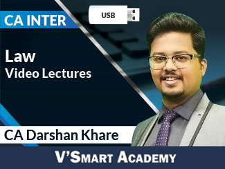 CA Inter Law Video Lectures by CA Darshan Khare (USB)
