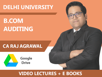 Delhi University B Com Auditing Video Lectures by CA Raj K Agrawal