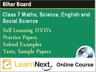 Class 7 Bihar Board Online Course Maths, Science, English and Social