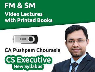 CS Executive New Syllabus FM & SM Video Lectures with Books by CA Pushpam Chourasia (USB)