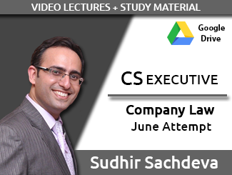 Cs executive company law video lectures by sudhir sachdeva june.
