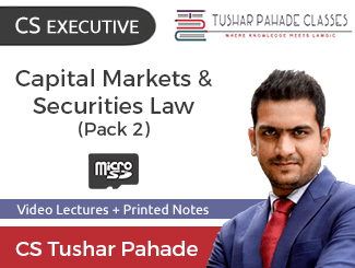 CS Executive Capital Markets & Securities Law Video Lectures by CS Tushar Pahade with Books Dec Attempt (SD Card)