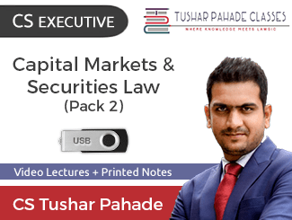 CS Executive Capital Markets & Securities Law Video Lectures by CS Tushar Pahade with Books Dec Attempt (USB)