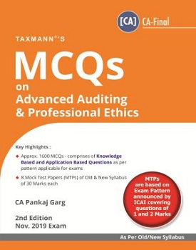 MCQs on Advanced Auditing & Professional Ethics Book for CA Final (Old & New Syllabus) By CA Pankaj Garg