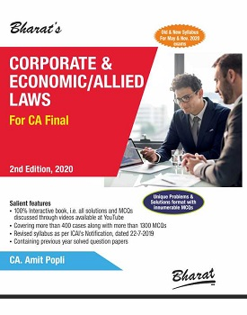 Bharats Corporate & Economic/Allied Laws Book for CA Final (Old & New Syllabus) by CA Amit Popli