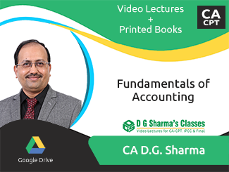 CA CPT Fundamentals of Accounting Video Lectures by CA DG Sharma
