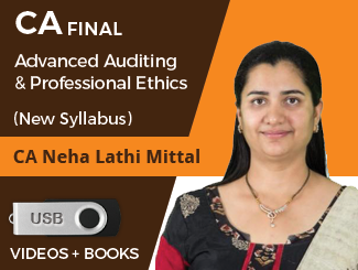 CA Final New Syllabus Advanced Auditing & Professional Ethics by CA Neha Lathi Mittal in Pendrive