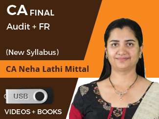 CA Final New Syllabus (Audit + FR) Combo Video Lectures by CA Neha Lathi Mittal in Pendrive