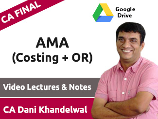 CA Final AMA (Costing + OR) Video Lectures by CA Dani Khandelwal (Download)
