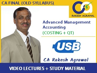 CA Final Group 2 AMA (Costing + QT) Full Syllabus Video Lectures by CA Rakesh Agrawal