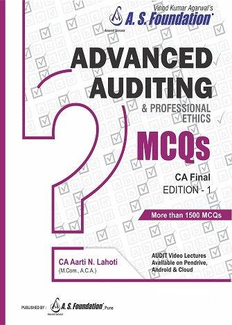 CA Final Advanced Auditing & Professional Ethics MCQs Book by CA Aarti Lahoti