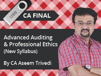 CA Final New Syllabus Advanced Auditing & Professional Ethics Video Lectures by CA Aseem Trivedi (USB)