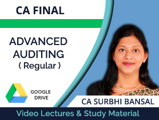 CA Final Advanced Auditing Regular Video Lectures by CA Surbhi Bansal (Download)