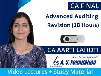 CA Final Advanced Auditing Revision Video Lectures by CA Aarti Lahoti (USB)