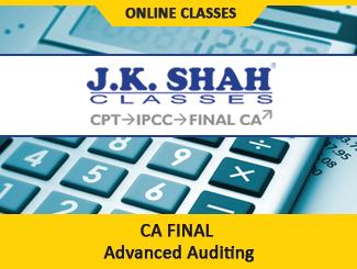 CA Final Paper 3 Advanced Auditing Online Classes