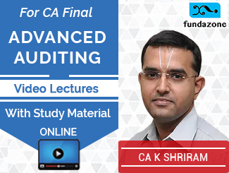 CA Final Advanced Auditing Video Lectures by CA K Shriram (Online)