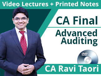CA Final Advanced Auditing & Professional Ethics Video Lectures By CA Ravi Taori (1 Year - DVD)