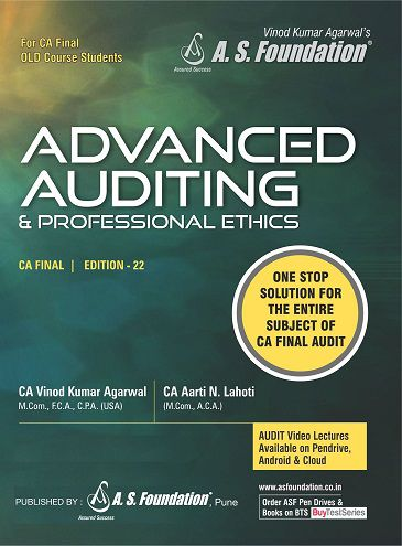 CA Final Old Syllabus Advanced Auditing & Professional Ethics Book by  CA Aarti Lahoti