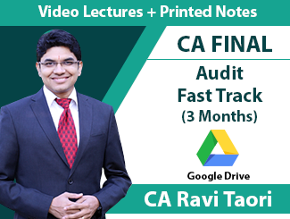 CA Final Audit Fast Track Video Lectures by CA Ravi Taori (3 Months - Download)