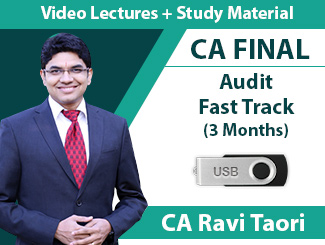 CA Final Audit Fast Track Video Lectures by CA Ravi Taori (USB, 3 Months)