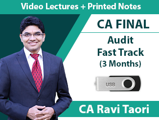 CA Final Audit Fast Track Video Lectures by CA Ravi Taori (3 Months - USB)