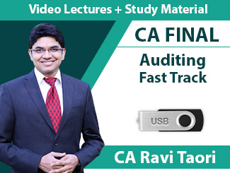 CA Final Advanced Auditing Fast Track Video Lectures By CA Ravi Taori (USB, 6 Months)
