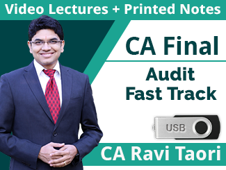 CA Final Advanced Auditing Fast Track Video Lectures By CA Ravi Taori (6 Months - USB)