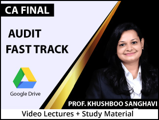 CA Final Audit Fast Track Video Lectures by Prof. Khushboo Sanghavi (Download + Books)