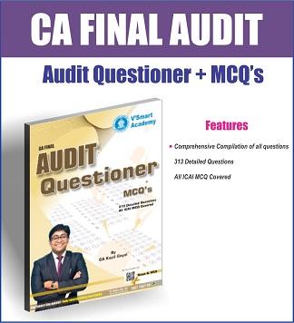 CA Final Audit Questioner & MCQ Book by CA Kapil Goyal