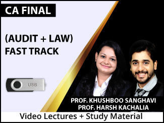 CA Final Combo (Audit + Law) Fast Track Video Lectures by Prof. Khushboo Sanghavi & Prof. Harsh Kachalia (USB)